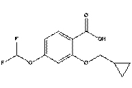 3-Cyclopropylmethoxy-4-difluoromethoxy-benzoic